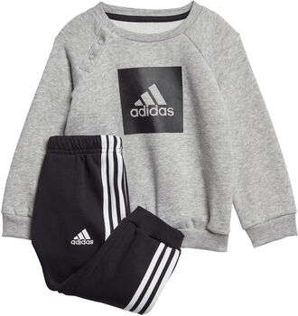 adidas 3-Stripes Logo joggedress barn Jente Grå