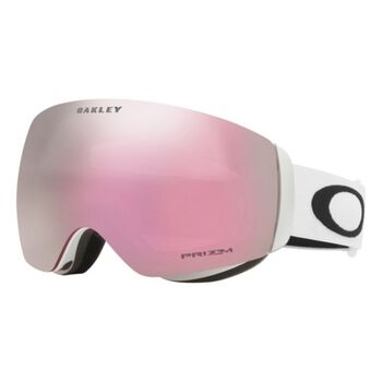Oakley Flight Deck XM Prizm™ Hi Pink Iridium - Matte Black alpinbriller Herre Hvit