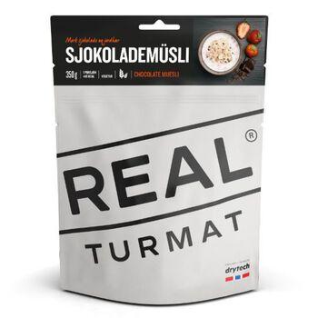 REAL turmat Sjokolademüsli 350 gram Grå