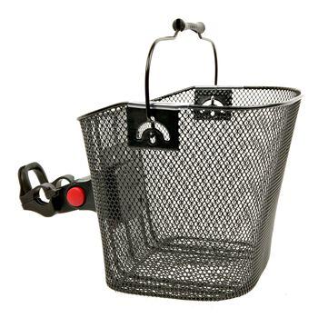 Bike-Tec Shoppingkurv m/ hurtigfeste Grå