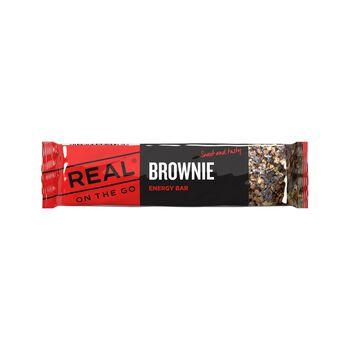 REAL turmat OTG brownie energibar 35 gram Flerfarvet