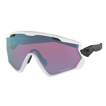 Oakley Wind Jacket 2.0 Prizm™ Snow Sapphire - Matte White sportsbriller Herre Flerfarvet