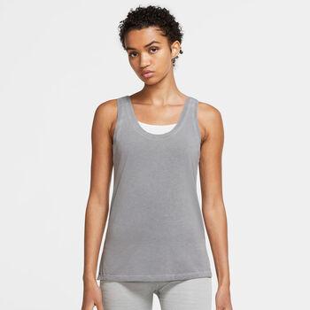 Nike Yoga Dri-FIT singlet dame Grå