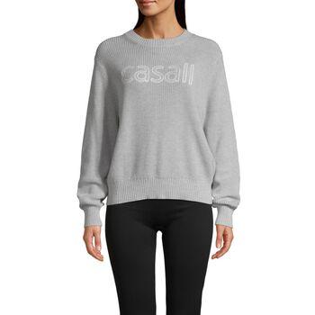 Casall Knitted logo sweater genser dame Herre Grå