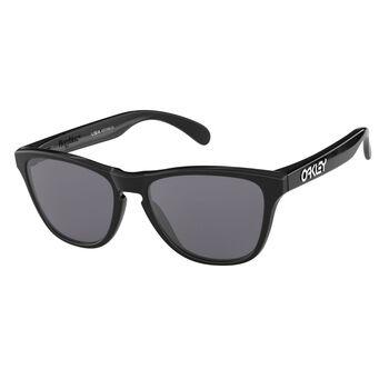 Oakley Frogskins XS Gray - Polished Black solbrille Herre Svart