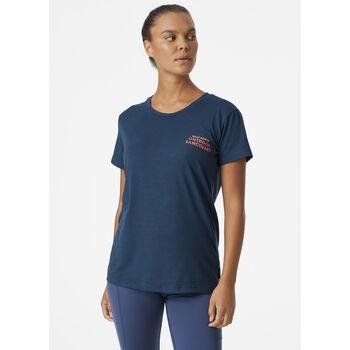 Helly Hansen Skog Recycled Graphic t-skjorte dame Blå