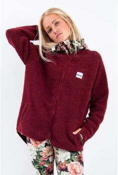 Eivy Redwood Sherpa fleecejakke dame Rød