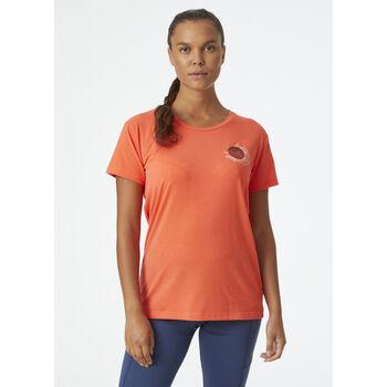 Helly Hansen Skog Recycled Graphic t-skjorte dame Rød