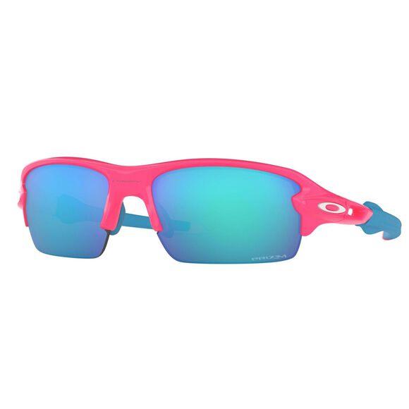 Flak XS Neon Pink - Prizm™ Sapphire sportsbrille junior