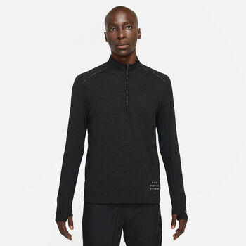 Nike Dri-FIT Element Run Division teknisk genser herre Svart