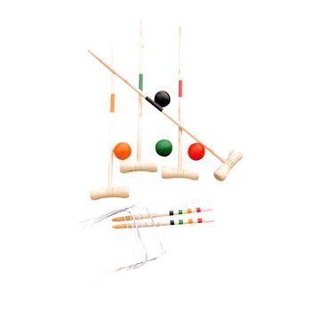 SportX  Krokket-sett for fire spillere Flerfarvet