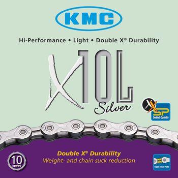 KMC X10  9/10-delt sykkelkjede Grå
