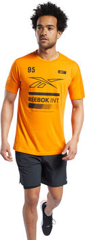 Reebok Speedwick Graphic Move teknisk t-skjorte herre Oransje