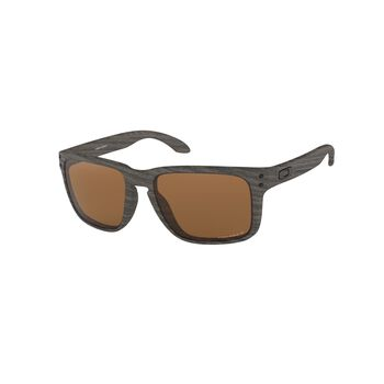 Oakley Holbrook XL Prizm™ Tungsten Polarized - Woodgrain solbriller Brun