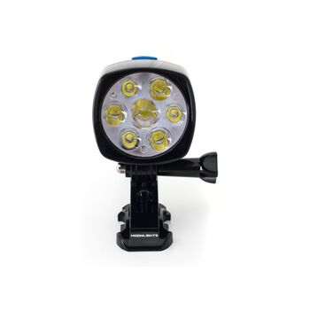 Moonlight Mountain Gear Bright as Day 6000 lumen hodelykt Svart