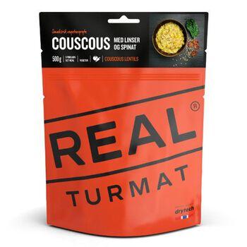REAL turmat Couscous Med Linser Og Spinat 500 gram Rød