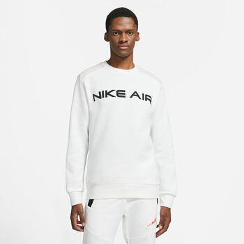 Nike Air Fleece Crew collegegenser herre Hvit