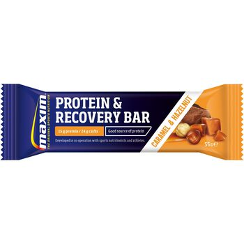 MAXIM 55G Recovery Bar Caramel proteinbar Svart