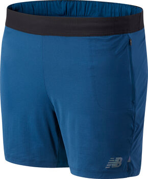 New Balance Q Speed Fuel 5 Inch teknisk shorts herre Blå