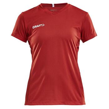Craft Squad Jersey Solid teknisk t-skjorte dame Rød