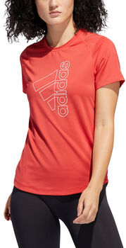 adidas Badge of Sport teknisk t-skjorte dame Rød