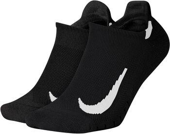 Nike Multiplier Running No-Show sokker 2-pck Svart