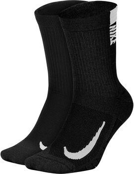 Nike Multiplier Crew sokker 2-pack Herre Svart